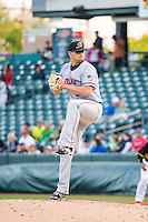 Cody Hall (34) of the Sacramento River Cats during the game against the Salt Lake Bees in Pacific Coast League action at Smith's Ballpark on April 20, 2015 in Salt Lake City, Utah.  (Stephen Smith/Four Seam Images)