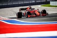 24th September 2021; Sochi, Russia; F1 Grand Prix of Russia free practise sessions;  16 LECLERC Charles mco, Scuderia Ferrari SF21, action during the Formula 1 VTB Russian Grand Prix