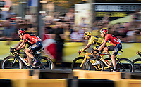 yellow jersey / Tour winner Egan Bernal (COL/Ineos) speeding over the Champs-Elysées<br /> <br /> Stage 21: Rambouillet to Paris (128km)<br /> 106th Tour de France 2019 (2.UWT)<br /> <br /> ©kramon