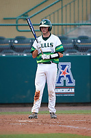 South Florida Bulls catcher Tyler Dietrich (38) at bat during a game against the Dartmouth Big Green on March 27, 2016 at USF Baseball Stadium in Tampa, Florida.  South Florida defeated Dartmouth 4-0.  (Mike Janes/Four Seam Images)