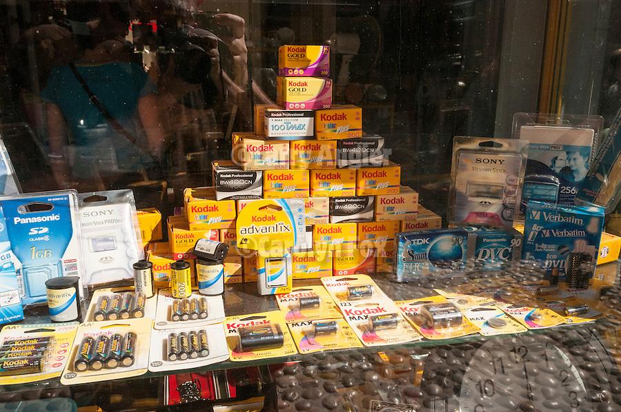 Street scenes and details in Mostar, Herzegovina<br /> <br /> Kodak film for sale in a store