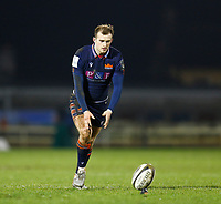 13th March 2021; Galway Sportsgrounds, Galway, Connacht, Ireland; Guinness Pro 14 Rugby, Connacht versus Edinburgh; Nathan Chamberlain kicks a conversion for Edinburgh in the 34th minute