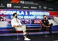 3rd September 2021: Circuit Zandvoort, Zandvoort, Netherlands;    F1 Grand Prix of the Netherlands Toto Wolff AUT, Mercedes-AMG Petronas F1 Team, Christian Horner GBR, Red Bull Racing, F1 Grand Prix of the Netherlands at Circuit Zandvoort