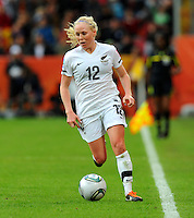 Betsy Hassett of team New Zealand during the FIFA Women's World Cup at the FIFA Stadium in Dresden, Germany on July 1st, 2011.