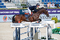 GBR-Harry Charles rides Borsato during the Negrita Cup. 2021 ESP-Longines FEI Jumping Nations Cup Final. Real Club de Polo, Barcelona. Spain. Friday 1 October 2021. Copyright Photo: Libby Law Photography