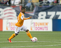 Houston Dynamo defender Corey Ashe (26)  The New England Revolution played to a 1-1 draw against the Houston Dynamo during a Major League Soccer (MLS) match at Gillette Stadium in Foxborough, MA on September 28, 2013.