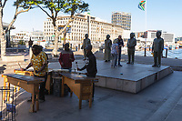 South Africa, Cape Town,Victoria&Alfred waterfronf,sculptures of the country's four Nobel Peace Prize winners, Albert Lutuli, Desmond Tutu, F. W. de Klerk and Nelson Mandela