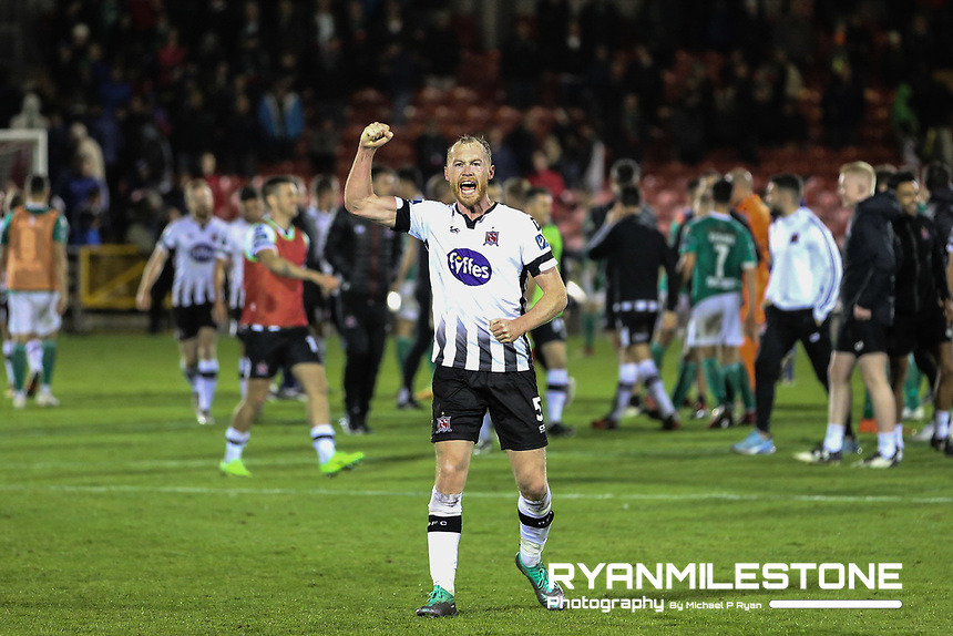 Chris Shields celebrates at the end of theSSE Airtricity League Premier Division game between Cork City and Dundalk on Friday 21st September 2018 at Turners Cross, Cork. Photo By Michael P Ryan