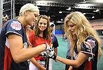 Jenny Finch,Maria Menounos & Marisa Miller at the MLB All Star Fanfest Batting Practice held at The Anaheim Convention Center , the precursor to The All Star Legends Celebrity Softball game in Anaheim, California on July 11,2010                                                                               © 2010 Debbie VanStory / Hollywood Press Agency