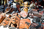 African masks for sale at Jazz Fest in Sunset Park, Asbury Park, New Jersey