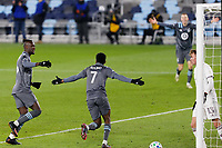 ST PAUL, MN - NOVEMBER 22: Kevin Molino #7 of Minnesota United FC celebrates his goal during a game between Colorado Rapids and Minnesota United FC at Allianz Field on November 22, 2020 in St Paul, Minnesota.