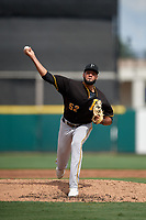Pittsburgh Pirates pitcher Adrian Florencio (52) during a Florida Instructional League game against the Detroit Tigers on October 16, 2020 at Joker Marchant Stadium in Lakeland, Florida.  (Mike Janes/Four Seam Images)