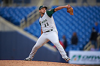 Fort Wayne TinCaps pitcher Bryan Verbitsky (11) delivers a pitch during a game against the Lake County Captains on May 20, 2015 at Classic Park in Eastlake, Ohio.  Lake County defeated Fort Wayne 4-3.  (Mike Janes/Four Seam Images)