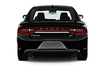Straight rear view of 2019 Dodge Charger GT 4 Door Sedan Rear View  stock images