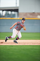 Garrison Harless (16) of Northside High School in Columbus, Georgia during the Under Armour All-American Pre-Season Tournament presented by Baseball Factory on January 14, 2017 at Sloan Park in Mesa, Arizona.  (Mike Janes/MJP/Four Seam Images)