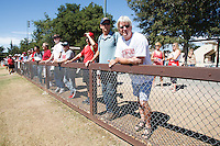 STANFORD,CA-- August 24, 2013: Fans during the open practice at the Dan Elliott Practice Field Saturday.<br /> <br /> It was part the Stanford Football 2013 Open House.