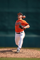 Baltimore Orioles pitcher Reed Hayes (41) delivers a pitch during an Instructional League game against the Pittsburgh Pirates on September 27, 2017 at Ed Smith Stadium in Sarasota, Florida.  (Mike Janes/Four Seam Images)