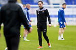 St Johnstone Training...06.05.21<br />First team coach Steven MacLean pictured during training at McDiarmid Park ahead of Sundays Scottish Cup semi-final against St Mirren.<br />Picture by Graeme Hart.<br />Copyright Perthshire Picture Agency<br />Tel: 01738 623350  Mobile: 07990 594431