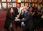 Julie Taymor and Thomas Schumacher attends the Julie Taymor Sardi's Caricature unveiling at Sardi's Restaurant on November 3, 2017 in New York City.