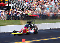 Sep 15, 2019; Mohnton, PA, USA; NHRA top fuel driver Brittany Force during the Reading Nationals at Maple Grove Raceway. Mandatory Credit: Mark J. Rebilas-USA TODAY Sports