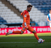 12th September 2020 The John Smiths Stadium, Huddersfield, Yorkshire, England; English Championship Football, Huddersfield Town versus Norwich City;  Ben Hamer of Huddersfield Town clears the ball long upfield