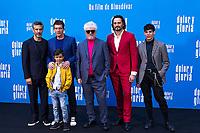 (L-R) Leonardo Sbaraglia, Antonio Banderas,  Asier Flores, Pedro Almodovar, Asier Etxeandia, attend the photocall of the movie 'Dolor y gloria' in Villa Magna Hotel, Madrid 12th March 2019. (ALTERPHOTOS/Alconada) /NortePhoto.con NORTEPHOTOMEXICO