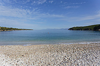 Avlaki beach in Corfu, Greece. Thursday 03 September 2020