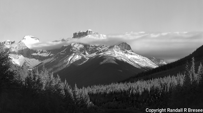 """""""Low Cloud"""" <br /> Banff National Park; Alberta, Canada<br /> <br /> This photograph shows typical scenery that is visible to drivers through Banff National Park."""