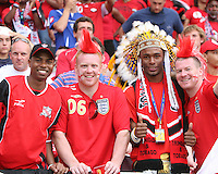 Happy English and Trinidad fans. England defeated Trinidad & Tobago 2-0 in their FIFA World Cup group B match at Franken-Stadion, Nuremberg, Germany, June 15 2006.