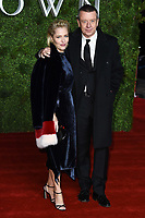 """Gillian Anderson and Peter Morgan<br /> arriving for """"The Crown"""" series 3 premiere at the Curzon Mayfair, London.<br /> <br /> ©Ash Knotek  D3533 13/11/2019"""