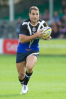 Olly Barkley of Bath Rugby in action during the Aviva Premiership match between Bath Rugby and Sale Sharks at the Recreation Ground on Saturday 29th September 2012 (Photo by Rob Munro)