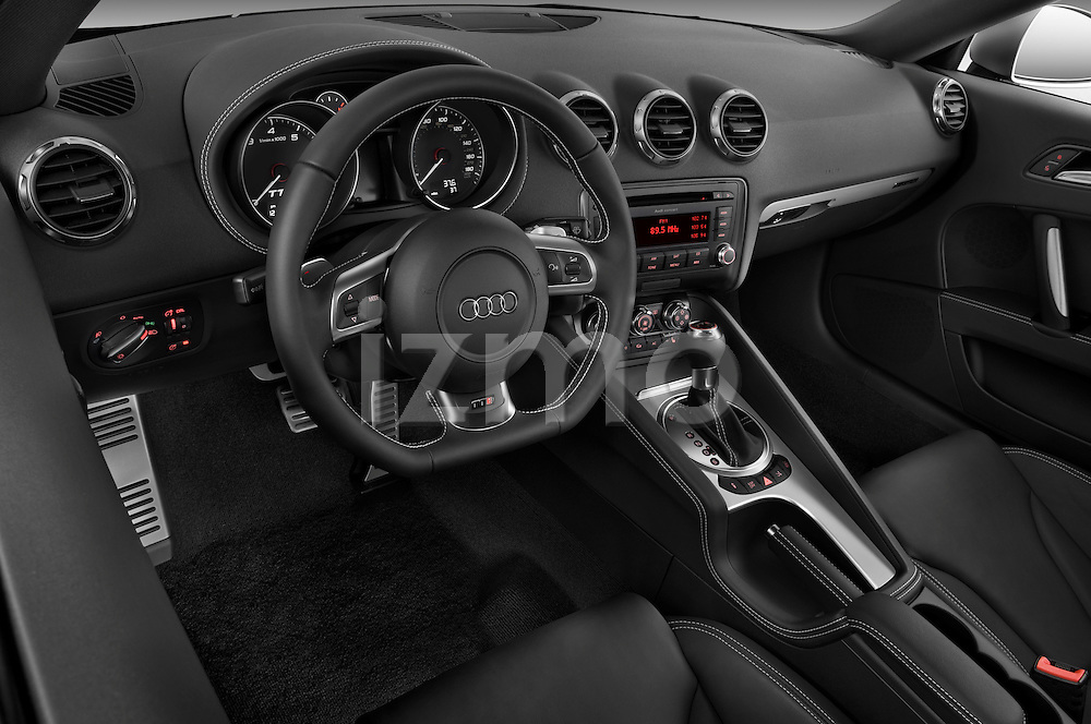 High angle dashboard view of a  2010 Audi TTS Coupe