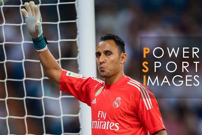 Goalkeeper Keylor Navas of Real Madrid reacts during their La Liga 2017-18 match between Real Madrid and Valencia CF at the Estadio Santiago Bernabeu on 27 August 2017 in Madrid, Spain. Photo by Diego Gonzalez / Power Sport Images