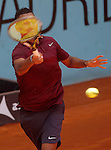 Nick Kyrgios, Australia, during Madrid Open Tennis 2016 match.May, 4, 2016.(ALTERPHOTOS/Acero)