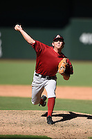 Arizona Diamondbacks pitcher Adam Miller (19) during an Instructional League game against the Oakland Athletics on October 10, 2014 at Chase Field in Phoenix, Arizona.  (Mike Janes/Four Seam Images)