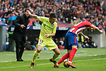Francisco Portillo Soler (L) of Getafe CF fights for the ball with Yannick Ferreira Carrasco of Atletico de Madrid during the La Liga 2017-18 match between Atletico de Madrid and Getafe CF at Wanda Metropolitano on January 06 2018 in Madrid, Spain. Photo by Diego Gonzalez / Power Sport Images