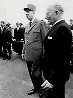 De Gaulle, Roland Michener<br /> <br /> PHOTO :  Jeff Goode - Toronto Star Archives - AQP