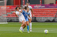 Chicago, IL - Saturday July 30, 2016: Lo'eau LaBonta, Stephanie McCaffrey during a regular season National Women's Soccer League (NWSL) match between the Chicago Red Stars and FC Kansas City at Toyota Park.