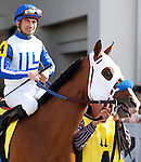 March 2010:  The Program and Corey Nakatani before the Louisiana Derby at the Fair Grounds in New Orleans, La.