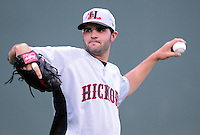 April 13, 2009: LHP Richard Bleier (30) of the Hickory Crawdads, Class A South Atlantic League affiliate of the Texas Rangers, in a game against the Greenville Drive at Fluor Field at the West End in Greenville, S.C. Photo by: Tom Priddy/Four Seam Images