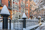Fresh snow on Beacon Hill, Boston, MA