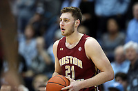 CHAPEL HILL, NC - FEBRUARY 1: Nik Popovic #21 of Boston College holds the ball during a game between Boston College and North Carolina at Dean E. Smith Center on February 1, 2020 in Chapel Hill, North Carolina.