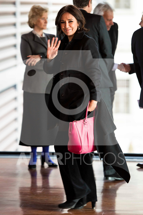 Isabel Gemio attends to the act of imposition of the great cross of the civil order of Alfonso X el Sabio to D. Francisco Luzon Lopez at Reina Sofia Museum in Madrid. March 13, 2017. (ALTERPHOTOS/Borja B.Hojas)