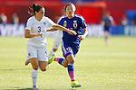 (L-R) Claire Rafferty (ENG), Yuki Ogimi (JPN), JULY 1, 2015 - Football / Soccer : FIFA Women's World Cup Canada 2015 Semir-final match between Japan 2-1 England at Commonwealth Stadium in Edmonton, Canada. (Photo by Yusuke Nakanishi/AFLO SPORT)