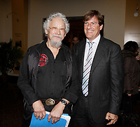 Montreal (QC) CANADA - February 26, 2008- David Suzuki (L) , Stephen Bronfman (R) <br /> at a press conference<br /> preceding the launch of the first C-Vert Environment Forum held at YM-YWHA - Jewish Community Centres<br />                5400, Westbury ave.<br />                Montreal.<br /> <br /> Partners of the<br /> project, including Mayor of the Villeray-Saint-Michel-Parc-Extension borough <br /> Ms. Anie Samson and Councillor for Cote-des-Neiges-Notre-Dame-de-Grâce<br /> Mr. Marvin Rotrand, will be on hand to mark this event.<br /> <br /> photo : (c) Pierre Roussel -  Images Distribution<br /> <br /> <br /> PHOTO :  Agence Quebec Presse