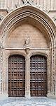 Entrance to Le Seu Cathedral in Palma de Mallorca, Spain