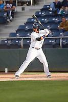 Alfredo Morales #24 of the Everett AquaSox at bat during a game against the Tri-City Dust Devils at Everett Memorial Stadium in Everett, Washington on June 19, 2013.  Everett defeated Tri-City 4-3.  (Ronnie Allen/Four Seam Images)