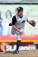 Trenton Thunder pitcher Caleb Cotham (35) during game against the Richmond Flying Squirrels at ARM & HAMMER Park on June 9 2013 in Trenton, NJ.  Trenton defeated Richmond 3-2.  Tomasso DeRosa/Four Seam Images