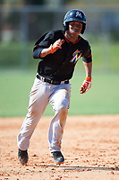 Miami Marlins Pablo Garcia (5) during a minor league Spring Training intrasquad game on March 31, 2016 at Roger Dean Sports Complex in Jupiter, Florida.  (Mike Janes/Four Seam Images)