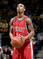 11 November 2009:   Chase Simon of Detroit prepares to shoot a free throw during the game against California at Haas Pavilion in Berkeley, California.   California defeated Detroit, 95-61.
